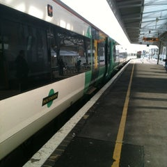 Photo taken at Eastbourne Railway Station (EBN) by Nicola B. on 3/8/2012
