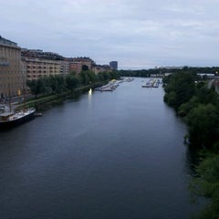 Photo taken at Sankt Eriksbron by yst on 8/18/2012