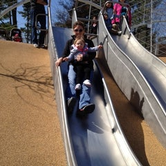 Photo taken at Woodland Discovery Playground @ Shelby Farms by Jessica B. on 3/3/2012