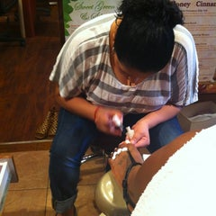 Photo taken at Lucky Nail Salon by Raquel H. on 3/22/2012
