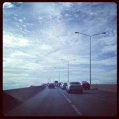 Photo taken at สะพานพระราม 3 (Rama III Bridge) by Ekkapoom R. on 8/28/2012