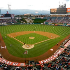 Photo taken at Angel Stadium of Anaheim by Mark on 8/27/2012