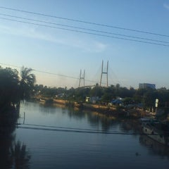 Photo taken at Cầu Mỹ Thuận by Clove L. on 8/10/2012