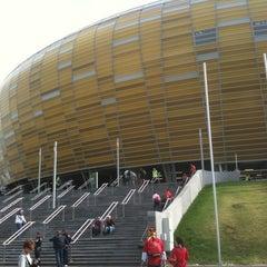 Photo taken at PGE Arena Gdańsk by Denis C. on 6/10/2012