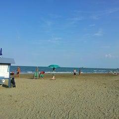Photo taken at Spiaggia Degli Alberoni by Piermarco B. on 8/12/2012