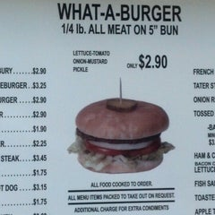 Photo taken at What-A-Burger by Jeff L. on 6/15/2012