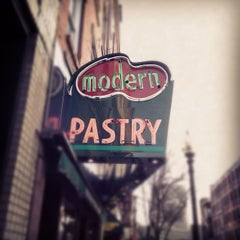 Photo taken at Modern Pastry Shop by Joe P. on 3/17/2012