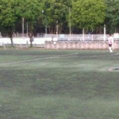 Photo taken at Cancha de Futbol de la Delegación Benito Juarez by Itzel M. on 7/29/2012