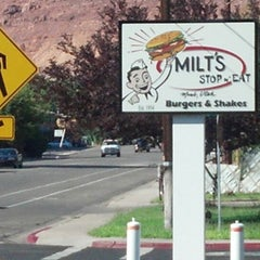 Photo taken at Milt's Stop & Eat by Matt B. on 9/8/2012