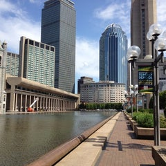 Photo taken at Christian Science Plaza by Eric A. on 8/16/2012