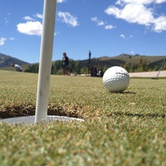 Photo taken at Sawtooth Putting Course by Sun Valley Resort on 6/15/2012