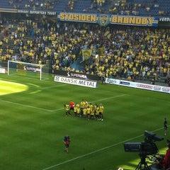 Photo taken at Brøndby Stadion by Henrik S. on 8/12/2012