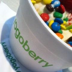 Photo taken at Yogoberry Original by tay l. on 3/20/2012