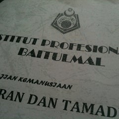 Photo taken at Institut Profesional Baitulmal by Nurhazreen A. on 9/7/2012