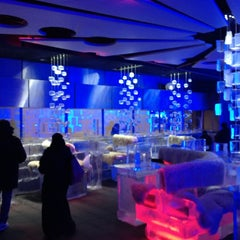 Photo taken at Chillout Ice Lounge Dubai by Rod J. on 2/27/2012