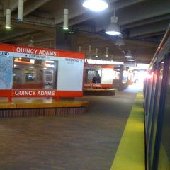 Photo taken at MBTA Quincy Adams Station by Michael B. on 4/3/2012