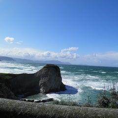 Photo taken at Playa Atxabiribil / Arrietara Hondartza by Eva A. on 3/19/2012