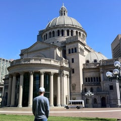 Photo taken at Christian Science Plaza by Jan W. on 4/18/2012