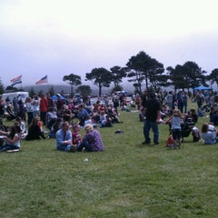 Photo taken at Beachfront Park by Kirsten V. on 7/4/2012
