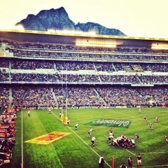 Photo taken at Newlands Rugby Stadium by Jason B. on 7/29/2012