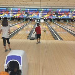 Photo taken at Buffaloe Lanes South Bowling Center by Adam S. on 8/17/2012