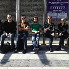 Photo taken at George's Dock Luas by Alex B. on 7/14/2012