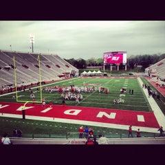 Photo taken at Memorial Stadium by Joshua B. on 4/14/2012