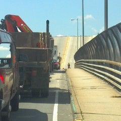 Photo taken at John Byrne-Greenpoint Avenue Bridge by Juni B. on 6/7/2012