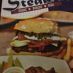 Photo taken at Steak Plus by babybossbheng on 3/18/2012