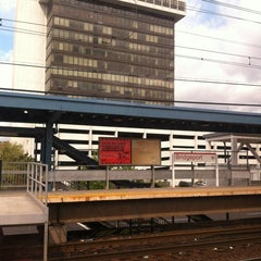 Photo taken at Bridgeport Train Station (BRP) - Metro North & Amtrak by Steven L. on 4/24/2012