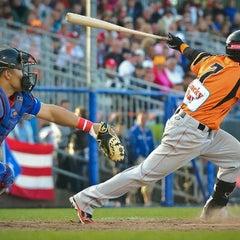 Photo taken at Pim Mulier Baseball Stadium by Michael R. on 7/22/2012