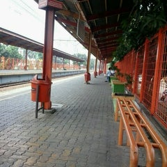 Photo taken at Stasiun Tanjung Barat by Mey K. on 7/28/2012