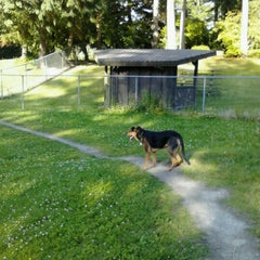 Photo taken at French Lake Off-Leash Dog Park by Erin Marie F. on 7/4/2012