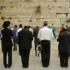 Photo taken at Western Wall (הכותל) by Anton N. on 5/1/2012