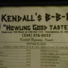 Photo taken at Kendall's BBQ by Erik B. on 4/2/2012