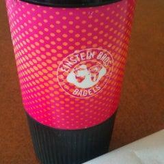 Photo taken at Einstein Bros Bagels by Josh G. on 4/1/2012