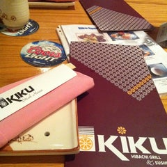 Photo taken at Kiku Hibachi Grill & Sushi Bar by icy G. on 2/29/2012