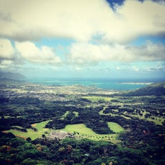 Photo taken at Nuʻuanu Pali Lookout by Kristine C. on 2/20/2012