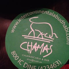 Photo taken at Chamas Churrascaria & Bar مطعم شاماس البرازيلي by Saif on 4/17/2012