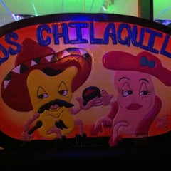 Photo taken at Los Chilaquiles - Bar & Mexican Grill by Aaron H. on 2/17/2012
