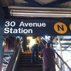 Photo taken at MTA Subway - 30th Ave (N/Q) by Michelle L. on 6/8/2012