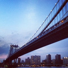 Photo taken at Manhattan Bridge by Sean F. on 4/15/2012