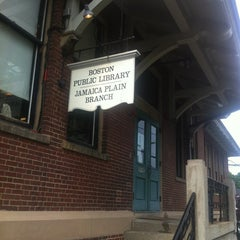 Photo taken at Boston Public Library - Jamaica Plain Branch by Rik A. on 6/7/2012
