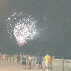 Photo taken at 8th Street at the Oceanfront by Candie on 7/10/2012
