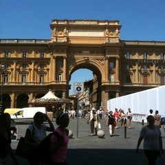 Photo taken at Piazza della Repubblica by Carla B. on 6/18/2012