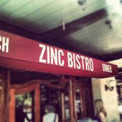 Photo taken at Zinc Bistro by Kyle K. on 6/17/2012