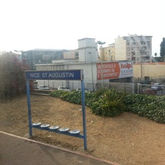 Photo taken at Gare SNCF de Nice Saint-Augustin by Anthony on 7/27/2012