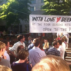 Photo taken at With Love Beer Garden at the Four Seasons Hotel Philadelphia by Ian K. on 6/8/2012