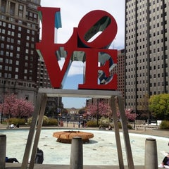 Photo taken at JFK Plaza / Love Park by Jimmy C. on 4/4/2012