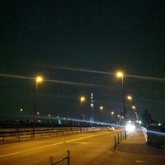 Photo taken at 四つ木橋 by TakeoTAGUCHI on 6/15/2012